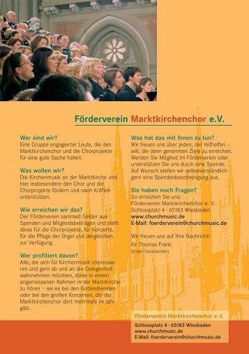 Förderverein Marktkirchenchor e.V. - Churchmusic.de