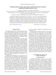 Ultrafast acoustic resonance spectroscopy of gold nanostructures ...