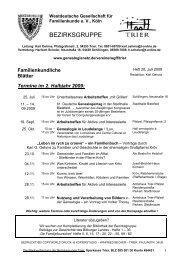 BEZIRKSGRUPPE - Trier - WGfF