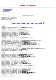 ABC-Listen zum Familienbuch rk. Ruwer - St. Clemens 1672 ... - Trier