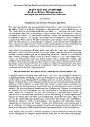 Wer nach den Quellen des Manderscheider Kirchenchores ... - Trier