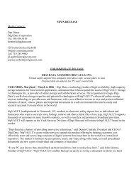 NEWS RELEASE Media Contacts: Dan Oister DigiData ... - Circuitnet