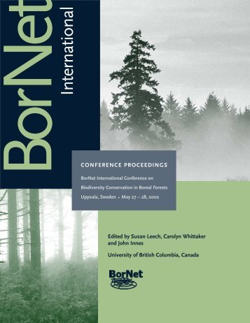 Conference Proceedings - Sustainable Forest Management Network ...