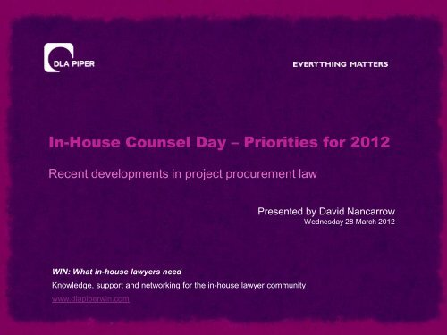 Managing the daily challenges of in-house life - DLA Piper WIN