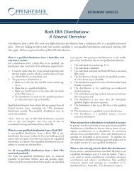 Roth IRA Distributions - Oppenheimer & Co. Inc.