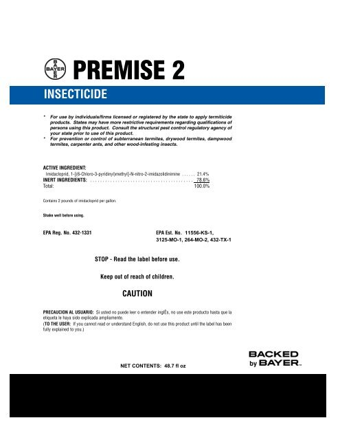 Premise 2 Label Center Termite And Pest Control