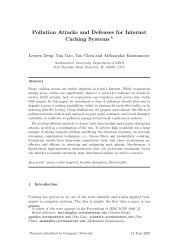 Pollution Attacks and Defenses for Internet Caching ... - CiteSeerX