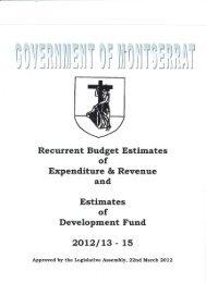 2012-13 Budget Estimates - Ministry of Finance