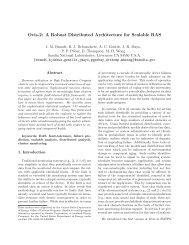Ovis-2: A Robust Distributed Architecture for Scalable RAS - Sandia ...