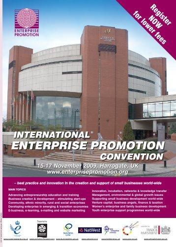 IEPC 8pp Brochure - Enterprise Promotion Convention
