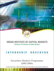 SMP Internship 2007-08 - Indian Institute of Capital Markets