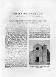 CRONACA DELLE BELLE ARTI - Bollettino d'Arte