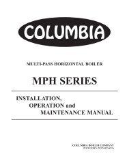 MPH Manual - Columbia Heating