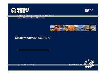 Masterseminar WS 10/11 Masterseminar WS 10/11
