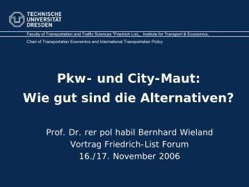 Pkw- und City-Maut: Wie gut sind die Alternativen?