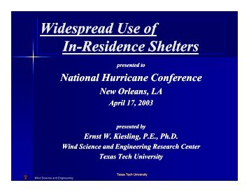 Widespread Use of Shelters - National Storm Shelter Association