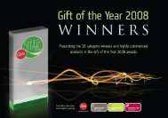 Gift of the Year 2008 winners and highly commended brochure