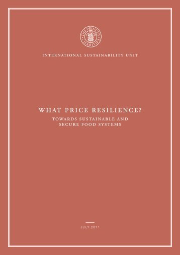 what price resilience? - International Sustainability Unit