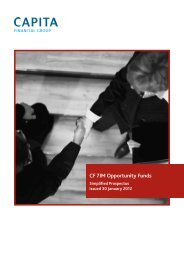CF 7IM Opportunity Funds - Seven Investment Management