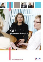 Konferencebrochure KØF 2013 - BDO
