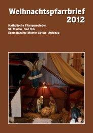 Weihnachtspfarrbrief 2012 - Pfarrgemeinde St. Martin, Bad Orb