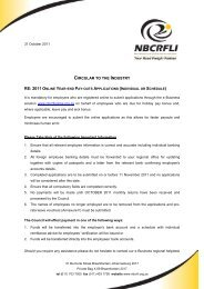 2011 Online Year-End Pay-outs Applications - nbcrfli.org.za