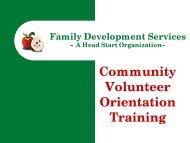 Volunteer Training Presentation - Family Development Services