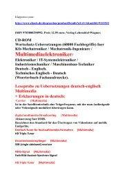 Bestseller-Woerterbuch mit Leseproben zu Multimedia Begriffe-Uebersetzungen Deutsch-Englisch