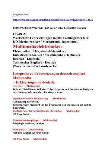 Mit woerterbuch im selbststudium lernen mechanik for Englisch deutsche ubersetzung