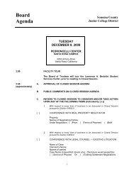 Board Agenda - Santa Rosa Junior College