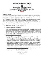 IPC Agenda 130128 - Santa Rosa Junior College