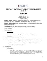 Safety Committee Minutes 4-18-13 (Final) - Santa Rosa Junior College