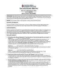 CC Minutes 12-6-12 - Santa Rosa Junior College