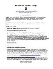 IPC Minutes 130211 - Santa Rosa Junior College