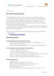 Der World Community Grid Inhaltsverzeichnis
