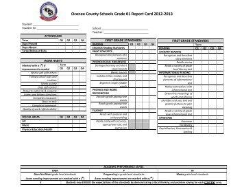 1 Grade Report Card Rubric Math Marking Period 2 1 Not