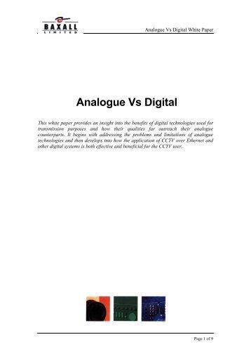 Analogue Vs Digital - IP UserGroup