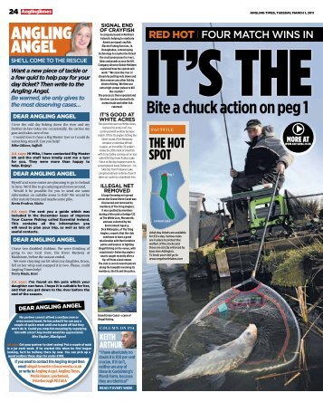 ANGLING ANGEL Bite a chuck action on peg 1 at ... - Maver Match