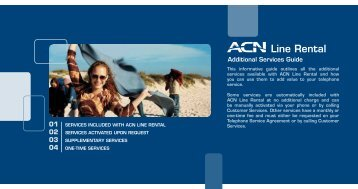 This informative guide outlines all the additional services ... - ACN