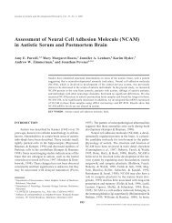 Assessment of Neural Cell Adhesion Molecule (NCAM) in ... - Springer