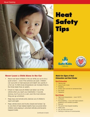 Heat Safety Tips - The Child Abuse Prevention Center