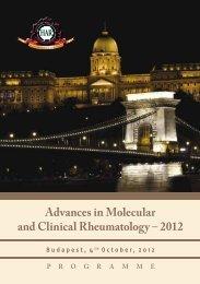 Advances in Molecular and Clinical Rheumatology – 2012