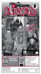 October 2013 - Ainad Shriners
