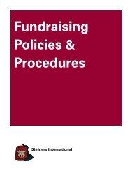 Fundraising Policies & Procedures - Shriners International