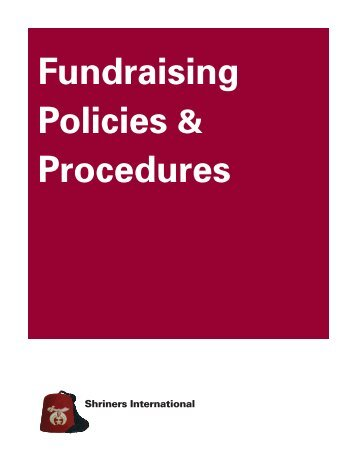 Fundraising Policies & Procedures - Shriners International