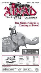 June July 2013 - Ainad Shriners
