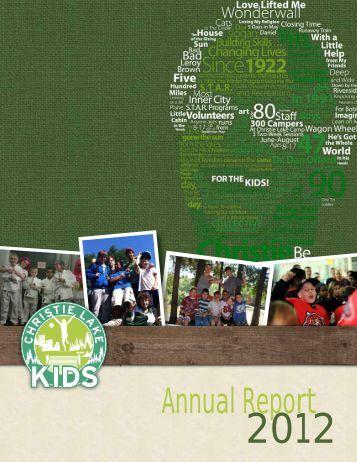 Annual Report - Christie Lake Kids