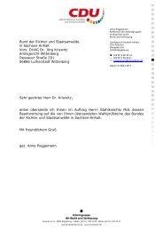 Bund der Richter und Staatsanwälte in Sachsen-Anhalt Vors. DirAG ...