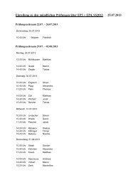 Einteilung zu den mündlichen Prüfungen über EP3 + EP4 vom ...