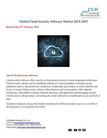 Global Cloud Security Software Market 2015-2019
